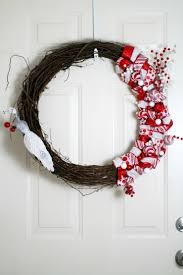 ribbon and ornament christmas wreath frugal mom eh
