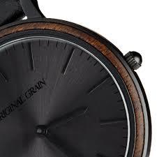 ebony matte black minimalist u2013 original grain watches europe