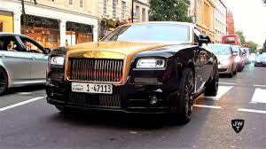 rolls royce wraith mansory black u0026 gold mansory rolls royce wraith driving around london