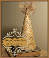 the chicken diy vintage christmas trees