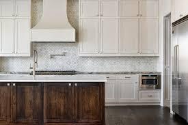 Marble Tile Kitchen Backsplash White Marble Backsplash Traditional Kitchen Boston Accent Tiles