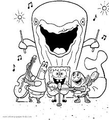 spongebob squarepants color page coloring pages for kids