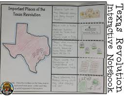 World History Map Activities by 4th Grade Texas Revolution U0026 Alamo Interactive Notebook Activities