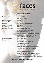 artistry makeup prices services prices faces makeup artistry