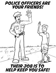 drug crime prevention coloring book