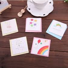 wholesale greeting cards wholesale 20pc set diy mini children kids bithday greeting cards