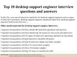 Desktop Support Sample Resume by Top10desktopsupportengineerinterviewquestionsandanswers 150331222327 Conversion Gate01 Thumbnail 4 Jpg Cb U003d1427858655