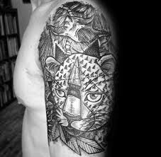 50 cheetah tattoos for men big spotted cat design ideas