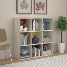 White Storage Bookcase by Systembuild Furniture Wink 9 Cube Storage Bookcase White