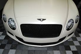 bentley sports car white satin pearl white car wrap bentley continental gt in miami miami
