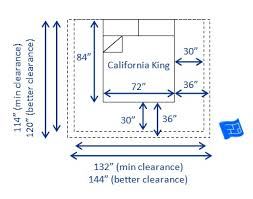 Will A California King Mattress Fit A King Bed Frame Bed Sizes And Space Around The Bed