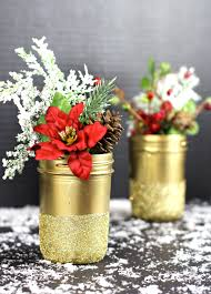 jar vases gold glittered jar vases