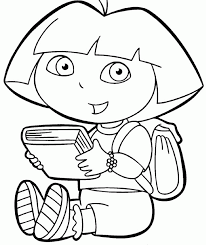 dora coloring pages for toddlers dora coloring book laidianqp info