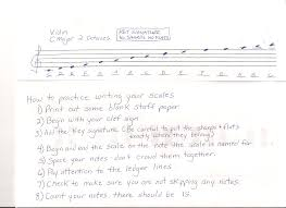 writing paper lines dempsey eileen orchestra writing scales violin finger chart
