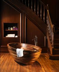 25 luxurious wooden bathroom design ideas wooden bathtub