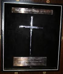 coventry cross of nails a framed cross made of steel nails from