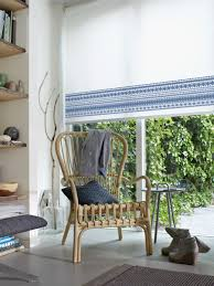 simple blue border on a luxaflex roller blind http www luxaflex