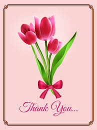 thank you card for pink tulip thank you card birthday greeting cards by davia