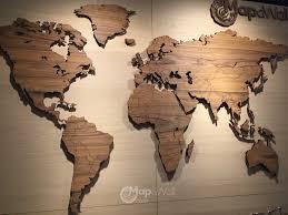 World map Palisander