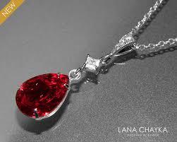 swarovski necklace red images Red crystal necklace dark red rhinestone cz necklace swarovski jpg