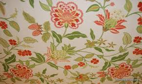 Red Drapery Fabric Hd781 Bold And Wonderful Scandinavian Modern Floral Green Red