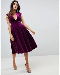plunge dress shopping deals on asos plunge bonded velvet prom midi
