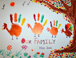 handprint turkey family things to make and do crafts and