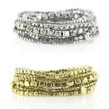 bead bracelet set images Liquid bead bracelet set in silver or gold presh shop jpg