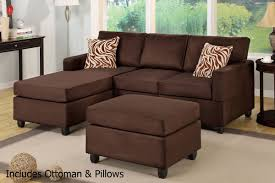brown fabric sectional sofa and ottoman steal a sofa furniture