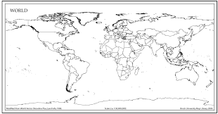 Black World Map by World Map Outline With Countries World Map Pinterest
