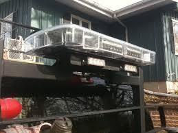 snow plow strobe lights back rack with light bar plowsite