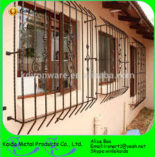 simple decorative wrought iron window grill designs for home buy
