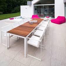 white outdoor table and chairs modern garden furniture fueradentro luxury garden furniture