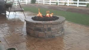 Fire Pits Denver by Gas Fire Pit With Veneer Stone Seat Wall In Westminster Co Yelp