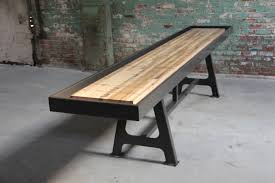 Shuffle Board Tables Furniture Interesting Wooden Shuffleboard Tables Design For Your