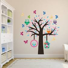 28 tree and owl wall stickers nursery wall decal owl tree tree and owl wall stickers owl tree fabric wall sticker set by mirrorin