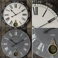 large pendulum wall clock antique farmhouse