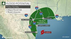 Weather Map Texas Harvey To Threaten Texas Louisiana With Major Flooding