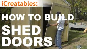 How To Frame A Door Opening How To Build A Shed Part 10 Shed Door Building Youtube