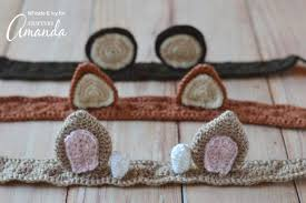 crochet hairband crochet headbands adorable woodland animal ear headband pattern