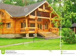 beautiful wooden house in the forest stock photo image 43178504