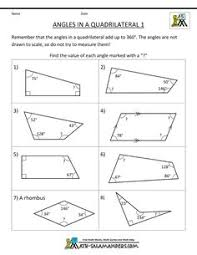 geometry worksheets printable angles in a trapezium 1 istruzione