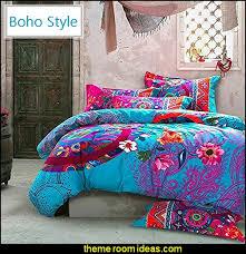 Tribal Pattern Comforter Teal Purple And Black Stripe And Bohemian Boho Style Western