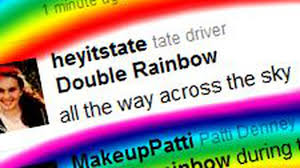 Double Rainbow Meme - double rainbow appears over l a twitter explodes in meme catchphrases