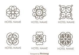 floral ornament hotel logo vectors 112048 welovesolo