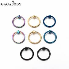 nose rings ball images 16g gold color blue rainbow ball closure nose rings nose hoop 10mm jpg