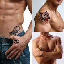 Male Flower Tattoos - tattoo stickers male body waterproof colored drawing invisible