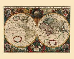 Old World Map Poster by Kobeica Blog U2013 Vintage Map Reproductions U2013 Beauty On Your Wall