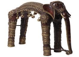 buy handicraft online dhokra art elephant home decor showpiece