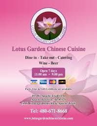 menu cuisine az lotus garden cuisine
